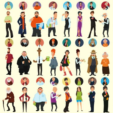 avatars and icons. people's faces.