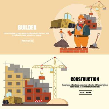Engineer construction industrial factory