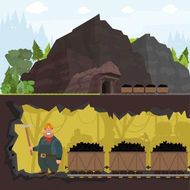 miner working in a mine.