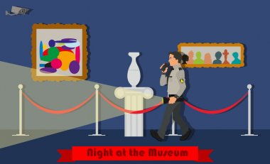 Night at the Museum. Museum security