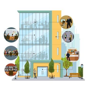 Business building facade.