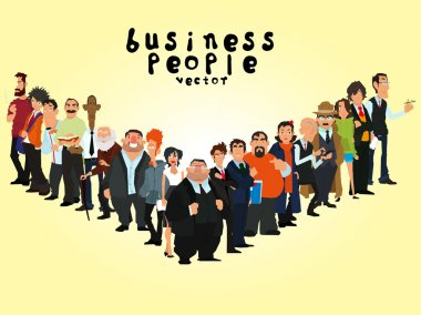 group of people on a yellow