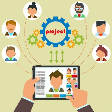 Remote control staff and project management.
