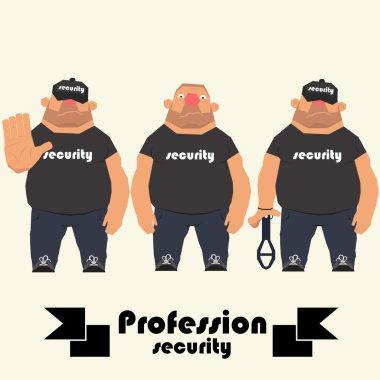 profession guard. security man.