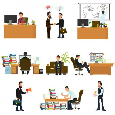 business people in flat style