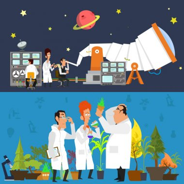 astronomers  study the sky, botanists - plants