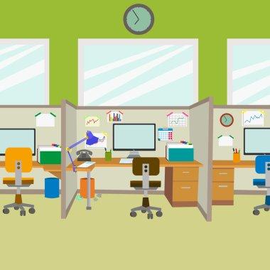 modern office. workplace
