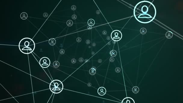 Social Networking Animation Green