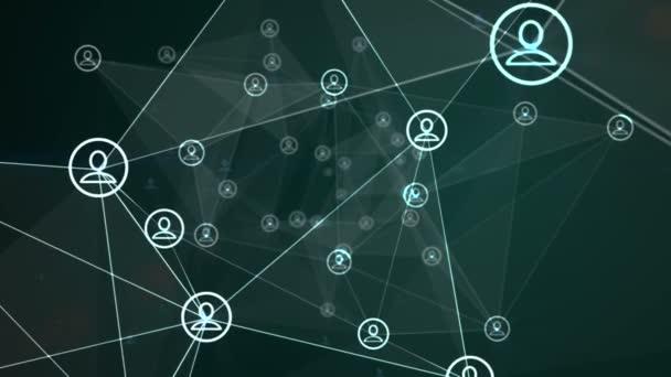 Sociální sítě animace zelená