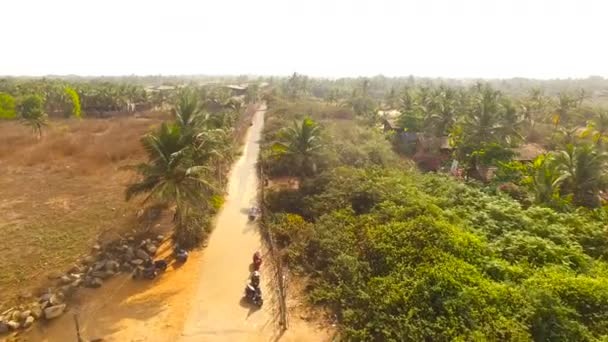 country road from Aerial Drone