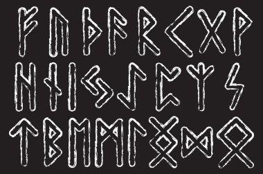 Futhark runes magic symbols. Runes of Magic vector set.