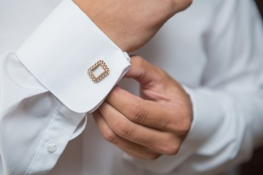 White shirt and cufflink