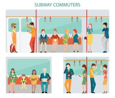 Commuters subway design.