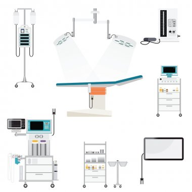 Medical hospital with medical equipment