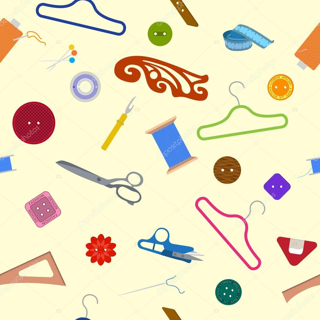 patrón de coser artículos — Vector de stock © meookami #116872570