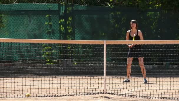 Tenistka na soudu Zpomalený pohyb