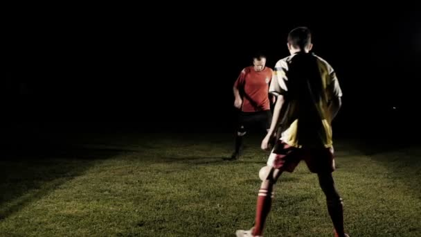 Two Soccer Player Dribbling The Ball Slow Motion