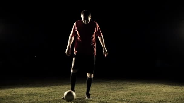 Fotbalový hráč nohy v akci zpomalené 1