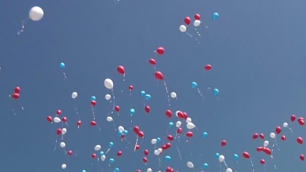 Mnoho balóny létání