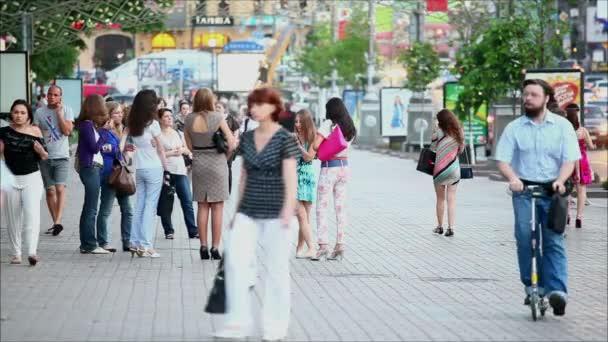 People walking on main street