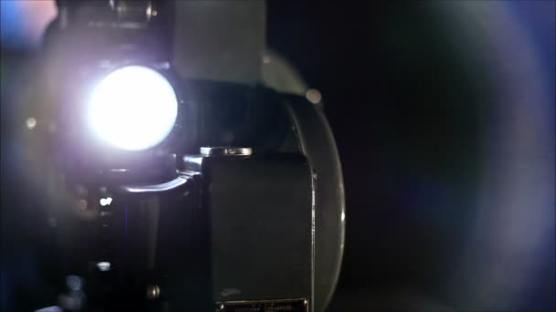 working film in a projector