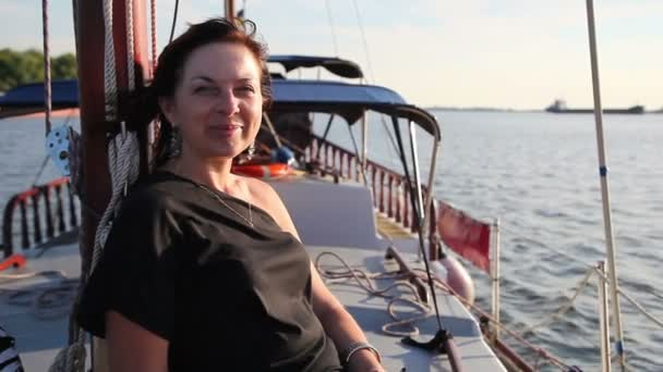 Woman travelling On A Yacht