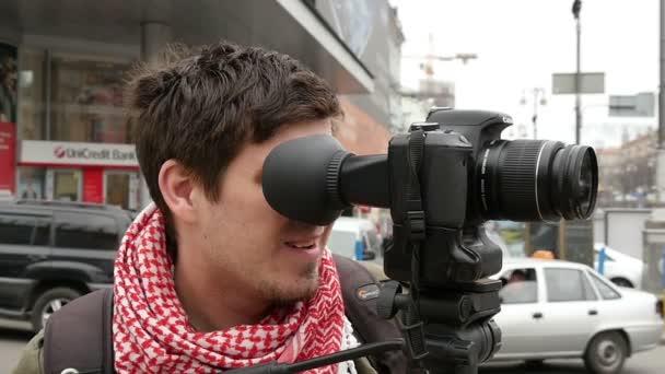 Kameramann in der Stadt