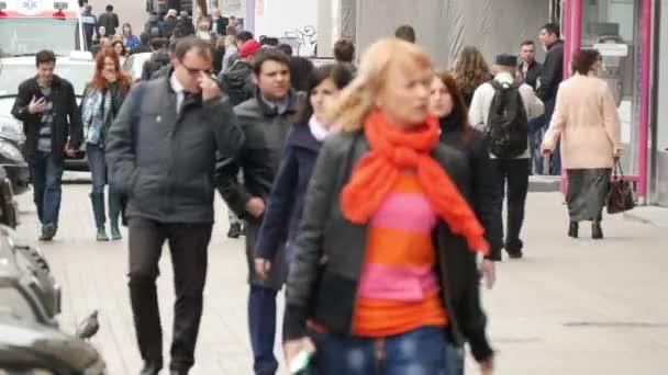 People walking the main street Kiev