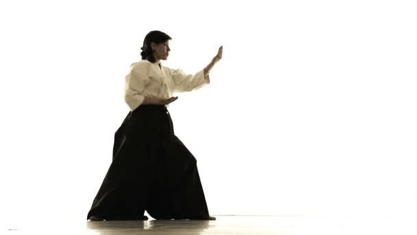 woman engaged in tai chi chuan