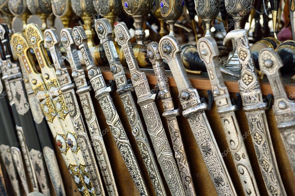 Georgian Souvenirs Stock Photos Georgian Souvenirs Stock: Georgische Souvenir. Schwerter, Messer Und Handgefertigte