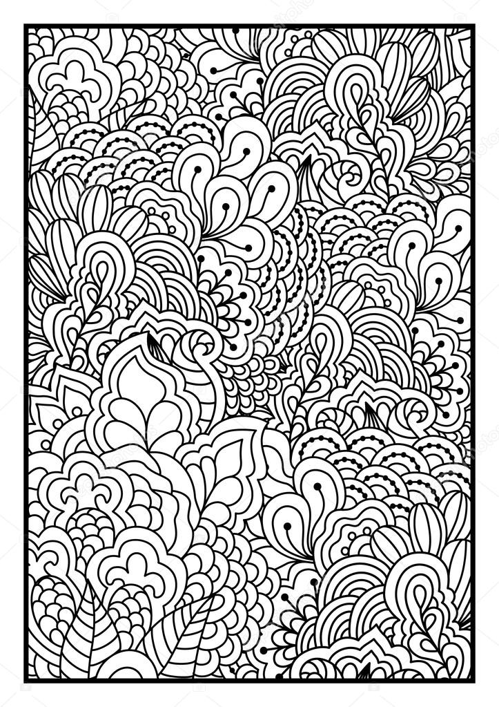 Black and white background for coloring book.