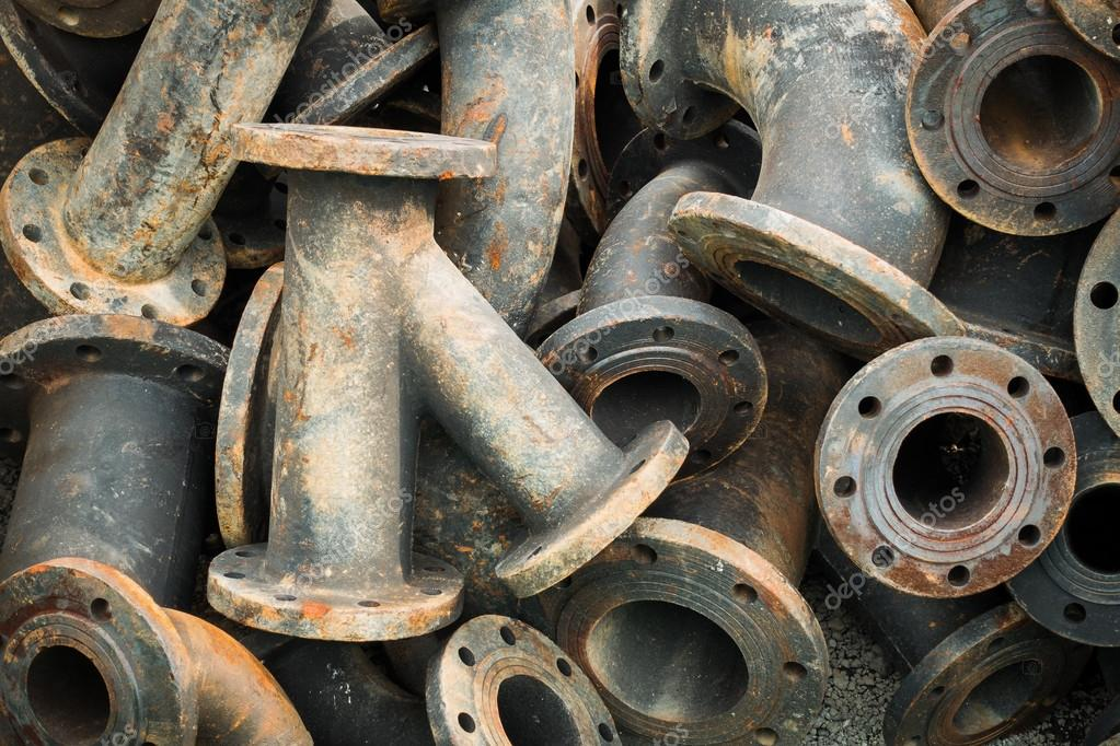 Storage of sewage pipe fittings Cast iron pipe fittings. u2014 Stock Photo & Storage of sewage pipe fittings Cast iron pipe fittings. u2014 Stock ...