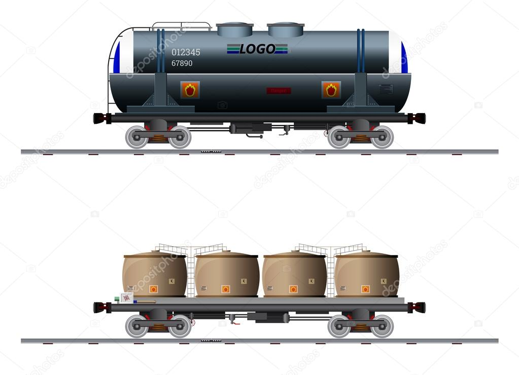 The image of two cargo carriage