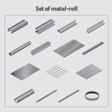 Set of metal roll