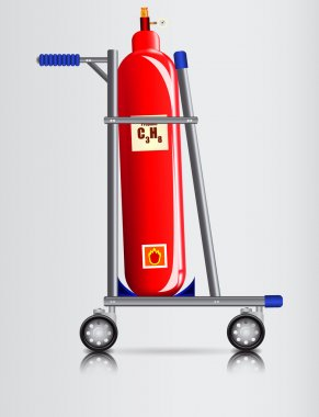 Trolley and a gas cylinder