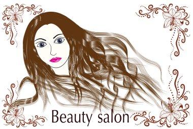 Beauty salon portrait of a girl.