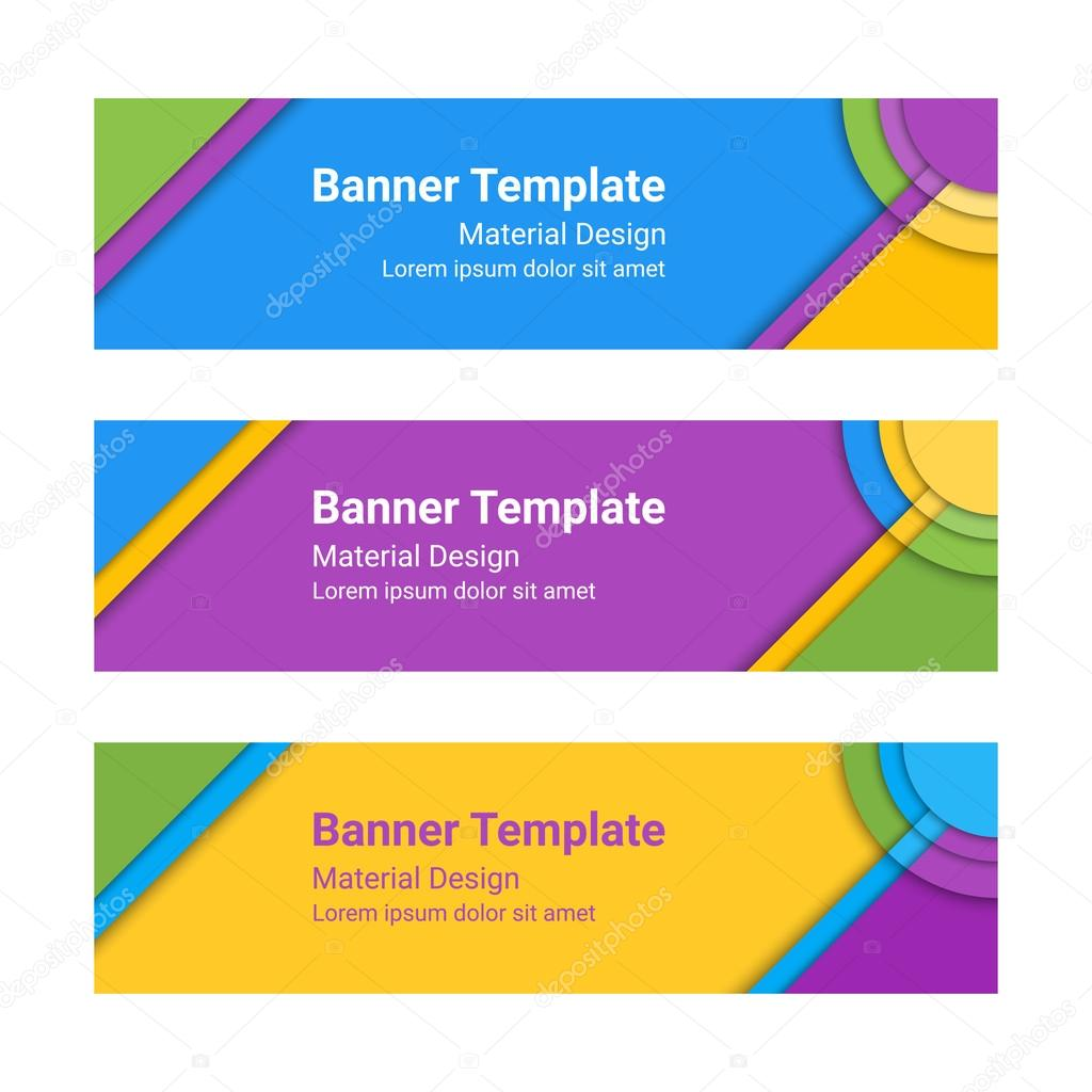 Design vector banner - Set Of Modern Colorful Horizontal Vector Banners Page Headers Can Be Used As A Trendy Business Template Or In A Web Design Vector Illustration