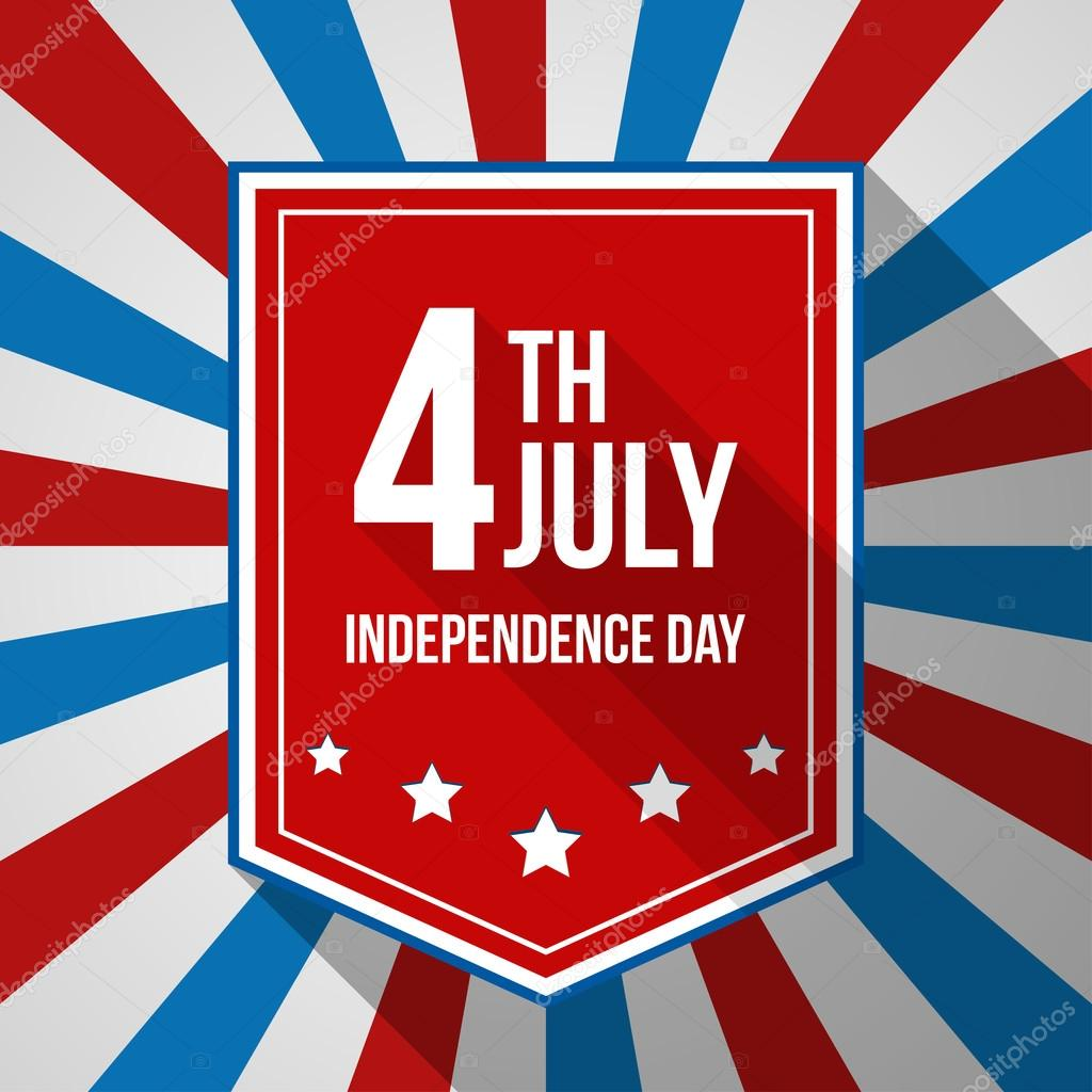usa independence day background vector illustration with text stripes and stars for posters flyers decoration in colors of american flag