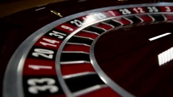 Detail z rulety v kasinu