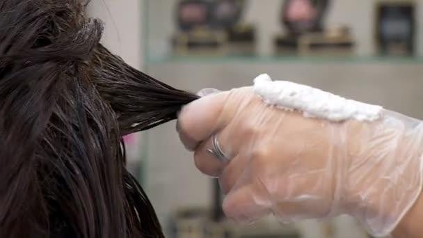 A sötét női haj Vértes festék alkalmazása