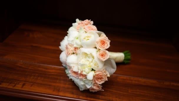 Svatební kytice, Detailní záběr.