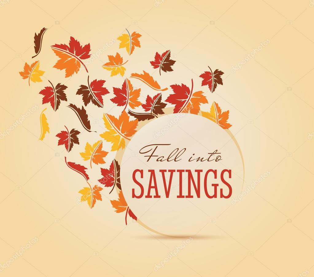 fall sale autumn leaves colorful seasonal elements banner graphic