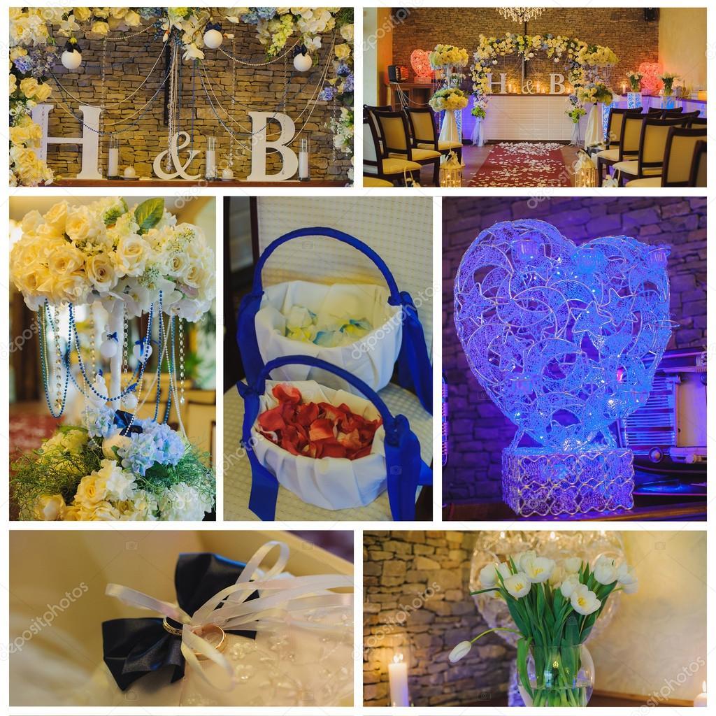 Collage Sammlung Von Grune Hochzeit Details Aus Zeremonie Und