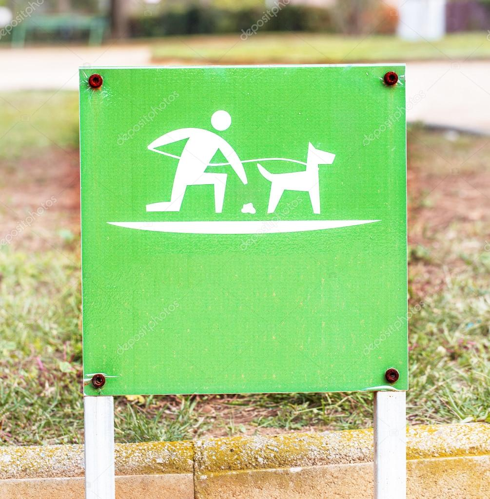 Pet waste sign