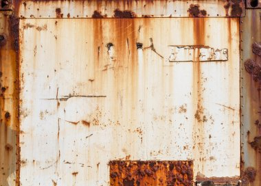 Weathered metal home walls vintage and rusted