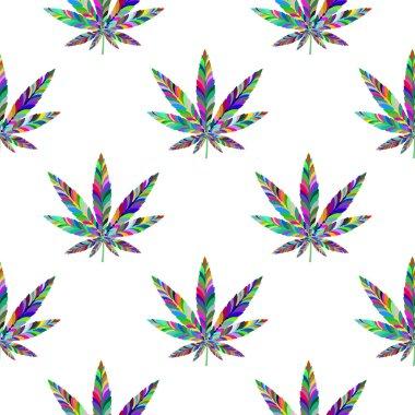 Marijuana seamless pattern 5
