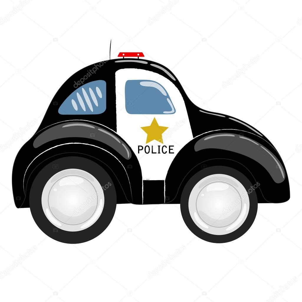 Male Kreslene Policejni Auto Samostatny Stock Vektor C Akorolchuk