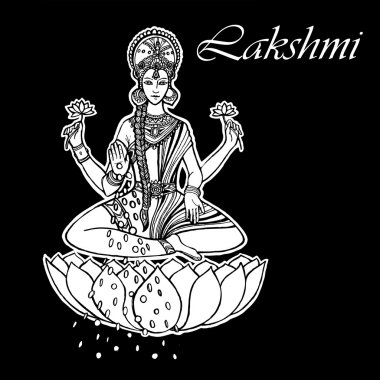 Lakshmi Goddess. Happy Diwali. India.