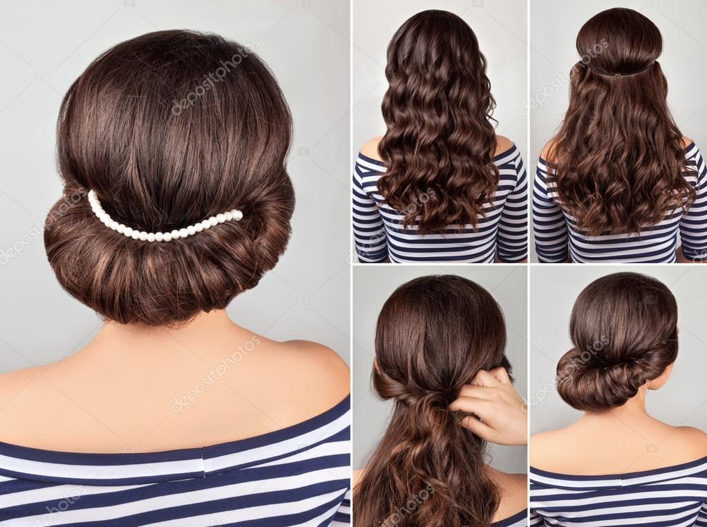 Greek Hairstyle Tutorial Stock Photo Alterphoto 107047580