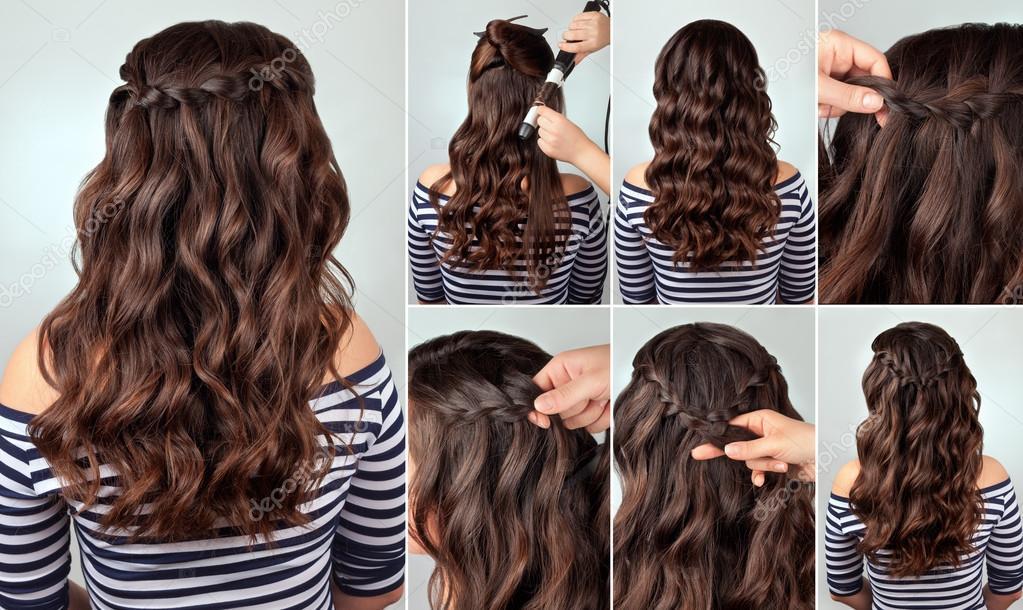 Peinados con trenzas y pelo rizado
